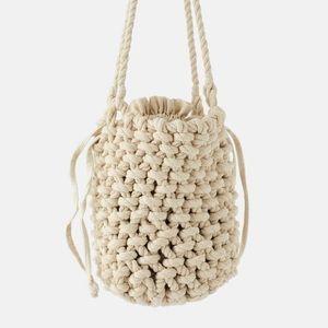 NWT Zara knit rope bucket bag